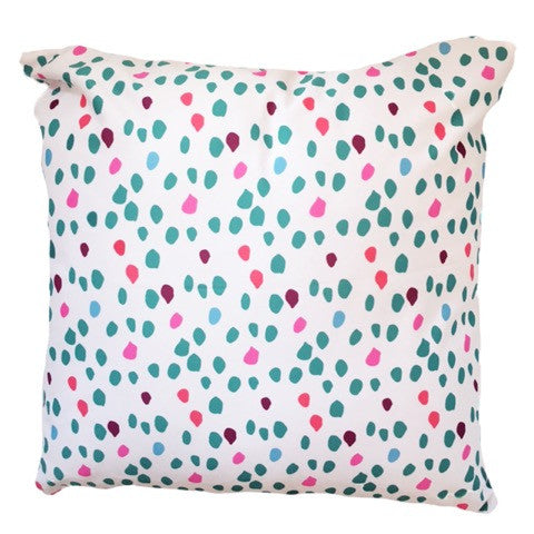 Unique White Confetti Animal Print Throw Pillow