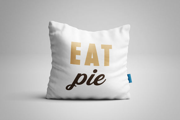 Fun, Festive Eat Pie White Throw Pillow