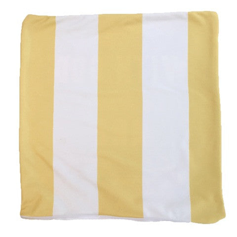Yellow and White Color Block Throw Pillow Cover ONLY