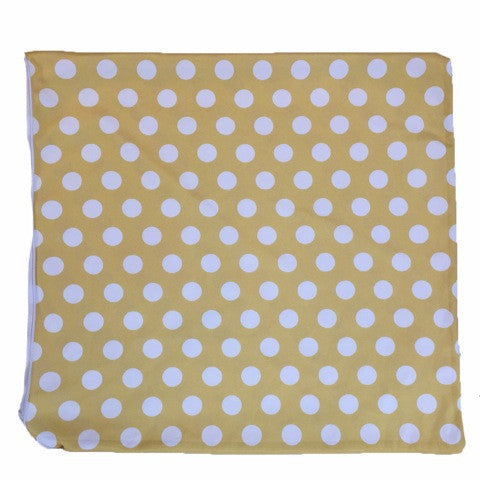 Yellow and White Polka Dot Throw Pillow Cover ONLY