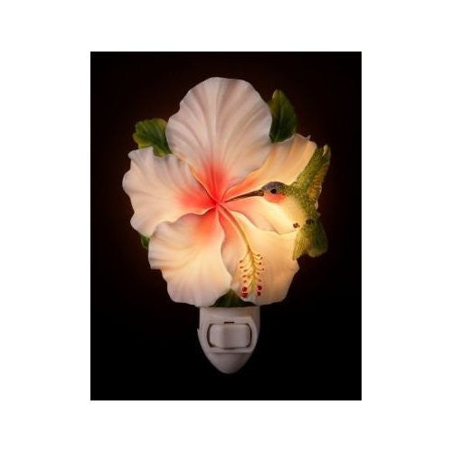 Hummingbird & Hibiscus Night Light
