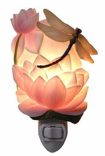 Dragonfly and Water Lily Nightlight