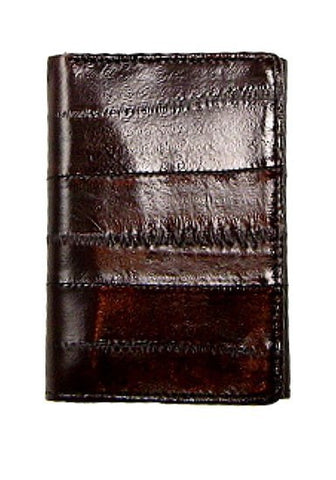 Eel Skin Trifold Wallet from Marshal Style - BROWN