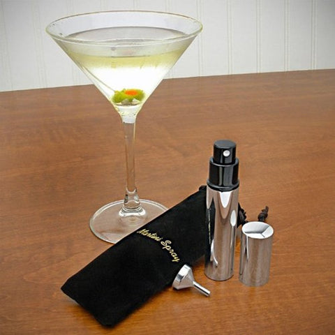 Stainless Steel Martini Vermouth Atomizer Spray Set (Includes Sprayer  Funnel...