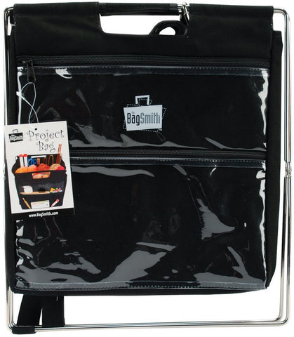 Bagsmith Black Project Bag Knitting Craft Collapsible Storage Stand