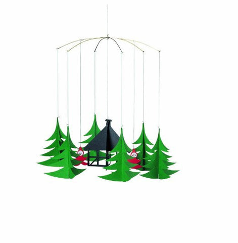 Flensted Mobiles Nursery Mobiles  Pixies in the X-Mas Forest