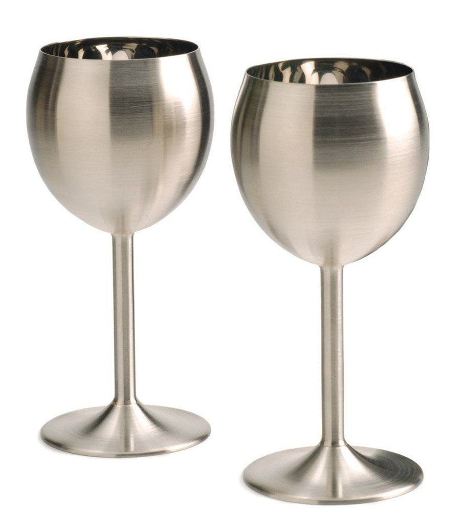 RSVP Endurance Stainless Steel Wine Glass  Set of 2