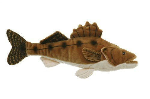 "10"" Walleye Fish Plush Stuffed Animal Toy"