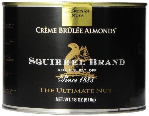Squirrel Brand Nuts Creme Brulee Almonds 18 Ounce Can