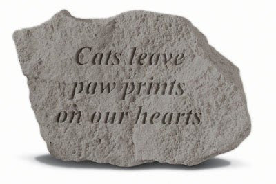 Kay Berry- Inc. 78420 Cats Leave Paw Prints On Our Hearts - Memorial - 5 Inch...