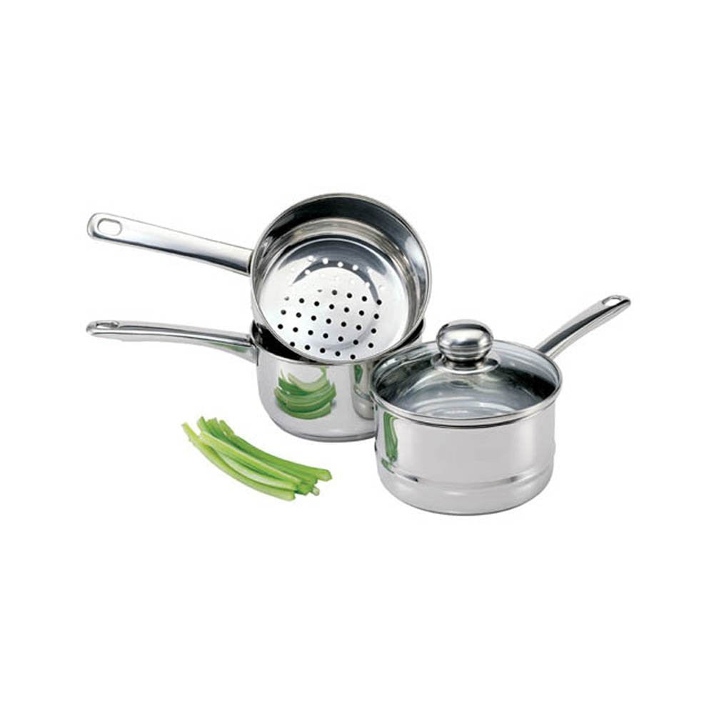 Culinary Edge 08813 Stainless Steel Steamer and Boiler Set