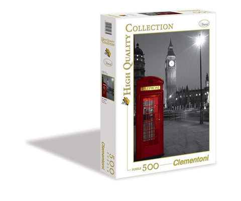Clementoni London Phone Box 500 Piece Jigsaw Puzzle