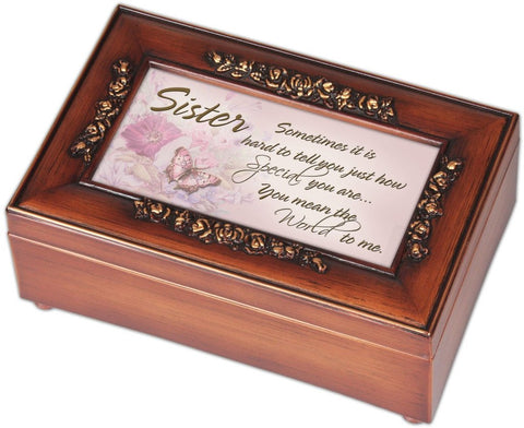 Cottage Garden Petite Rose Sister Music Box