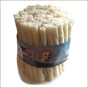 Wholesome Hide Beef Hide Twists - 5 inches long - 1/2 inch across - Economy P...