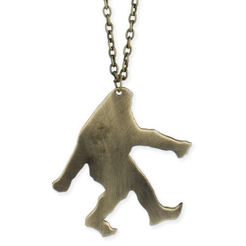 Gold Bigfoot Pendant Necklace