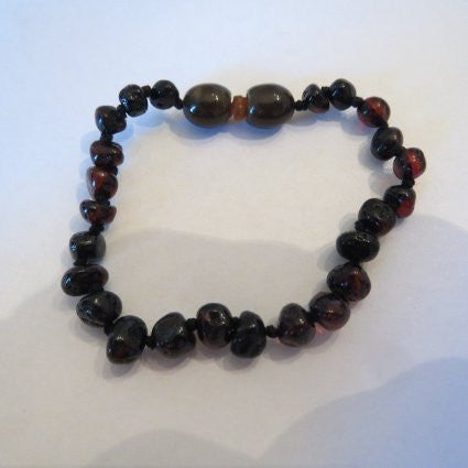Baltic Amber Baby Bracelet by Momma Goose (Cherry)