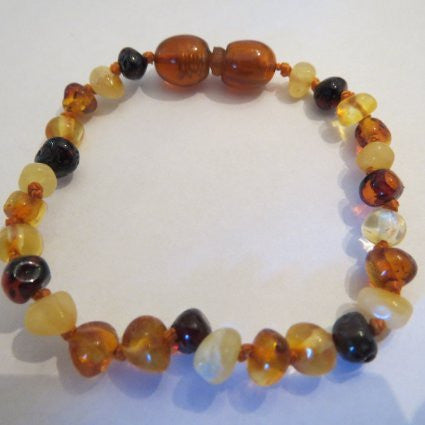 Baltic Amber Baby Bracelet by Momma Goose (Multi)