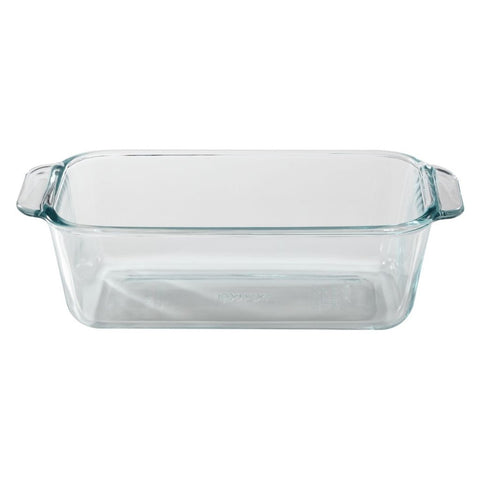 Pyrex 1.5-Quart Clear Basics Glass Loaf Pan (Set of 2)