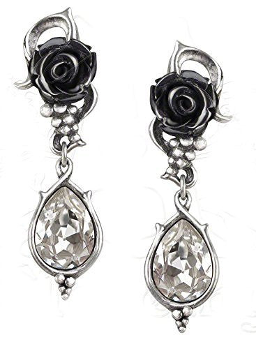 Bacchanal Rose Pair of Earrings by Alchemy Gothic
