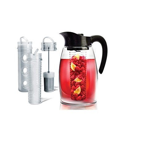 Primula Flavor-It Infusion Pitcher 3-in-1 Beverage System 2.9 quart Black