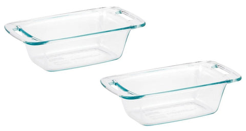 World Kitchen 1085799 Pyrex Easy Grab Loaf Dish  Pack of 2 Dishes