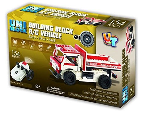 UniBlock Remote Controlled Dump Truck Building Block RC Vehicles Compatible W...