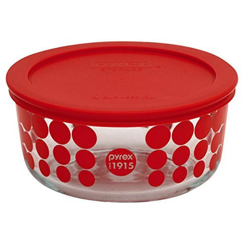 Pyrex? 100 4 Cup 100th Anniversary Red Dot Storage Dish