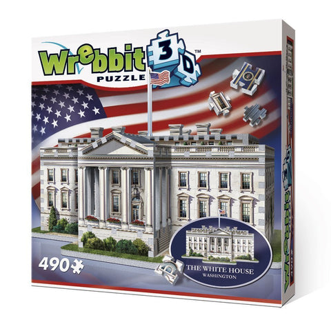 WREBBIT 3D The White House 3D puzzle (490 pieces)