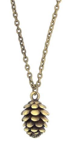 "Zad Jewelry Gold Plated Pinecone Necklace on 16"" Chain"