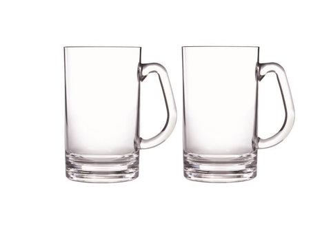 Unbreakable Beer Mug Set of Two  20oz