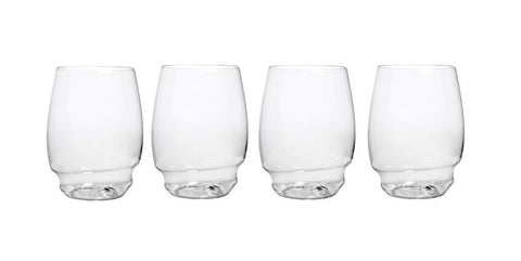 Stemless Wine Glass - Shatterproof - Flexible - Recyclable - Set of 4 - 16oz