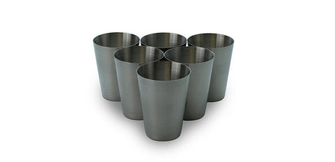 Stainless Steel Shot Glass 2 Oz Set of 6
