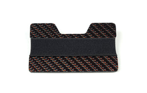 Band Wallet - 2x2 with Red Metallic Lacing Carbon Fiber