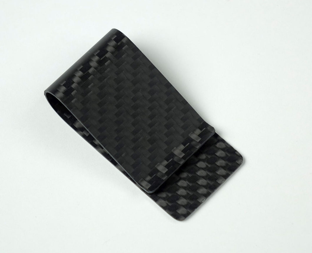 Money Clip - 2X2 Matte Carbon Fiber