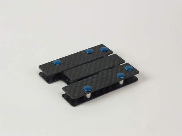 Carbon Standoff Wallet with Blue Aluminum (Regular)