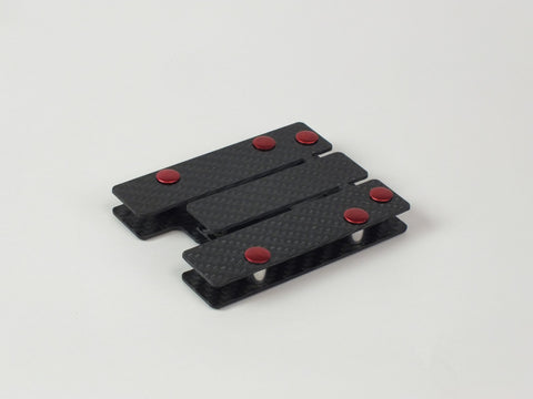 Carbon Standoff Wallet with Red Aluminum (Regular)