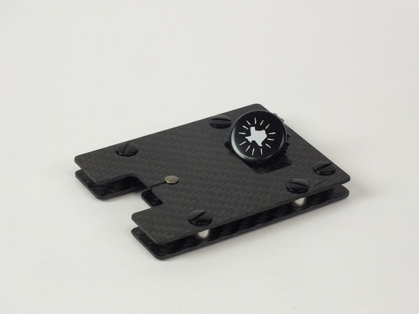 Carbon Standoff Wallet with Black Aluminum (Small)