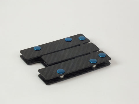 Carbon Standoff Wallet with Blue Aluminum (Small)