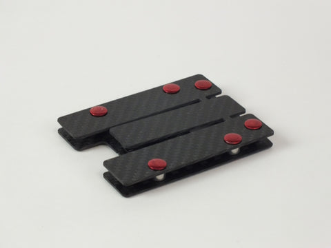 Carbon Standoff Wallet with Red Aluminum (Small)
