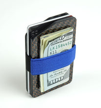 Load image into Gallery viewer, MagWallet - 2x2 with Copper Metallic Lacing Carbon Fiber