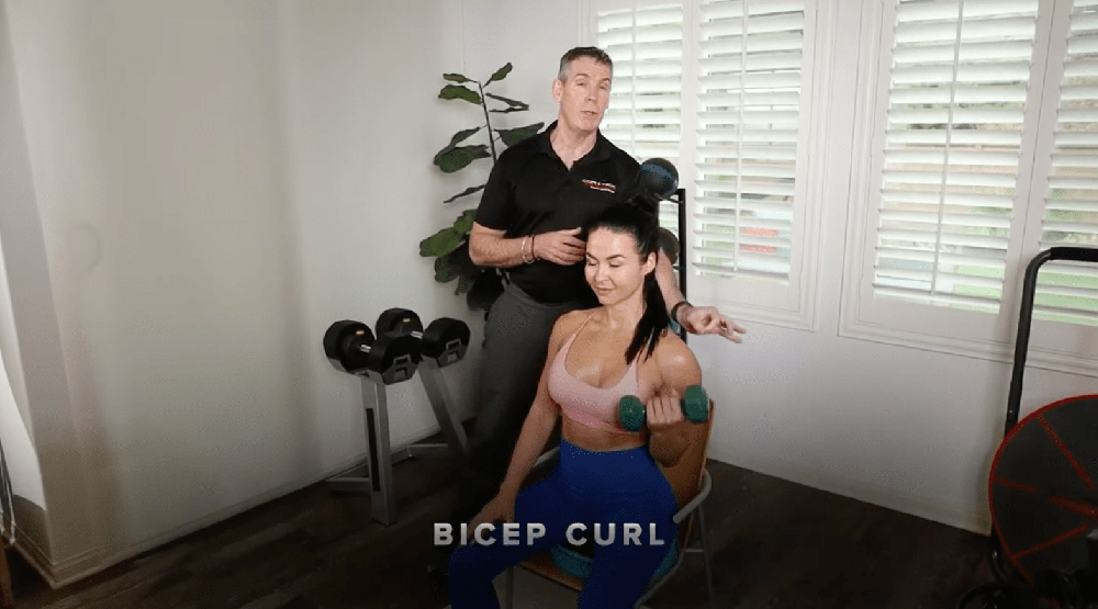 Core-Tex Sit Upper Body Strengthening with Weights video