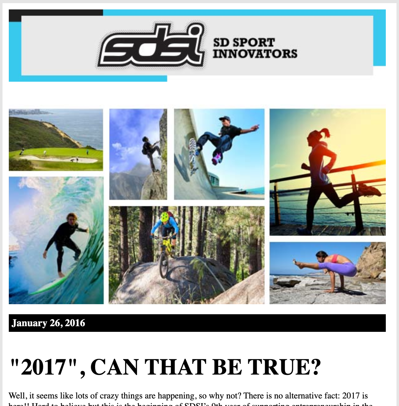 SAN DIEGO SPORTS INNOVATORS, JANUARY 26, 2017: SDSI Springboard graduates four companies from Class 8