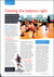 HEALTH CLUB MANAGEMENT MAGAZINE, JUNE 2011: Getting the Balance Right