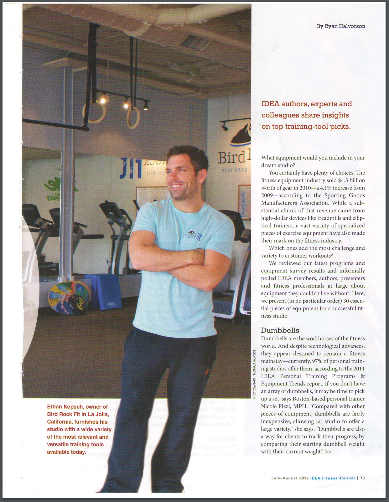 IDEA FITNESS JOURNAL, JULY 2012: 30 Essential Pieces of Equipment for a Successful Training Studio