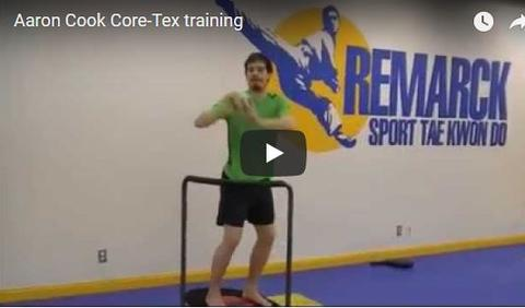 Aaron Cook Taekwondo Champion Training on Core-Tex