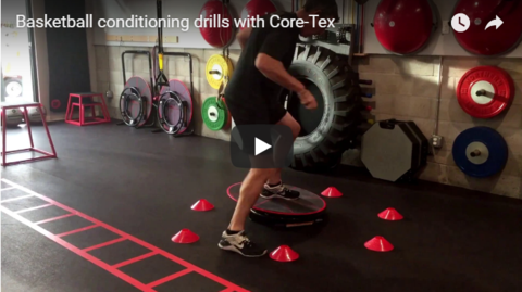 Basketball Inspired Conditioning Drills with Core-Tex