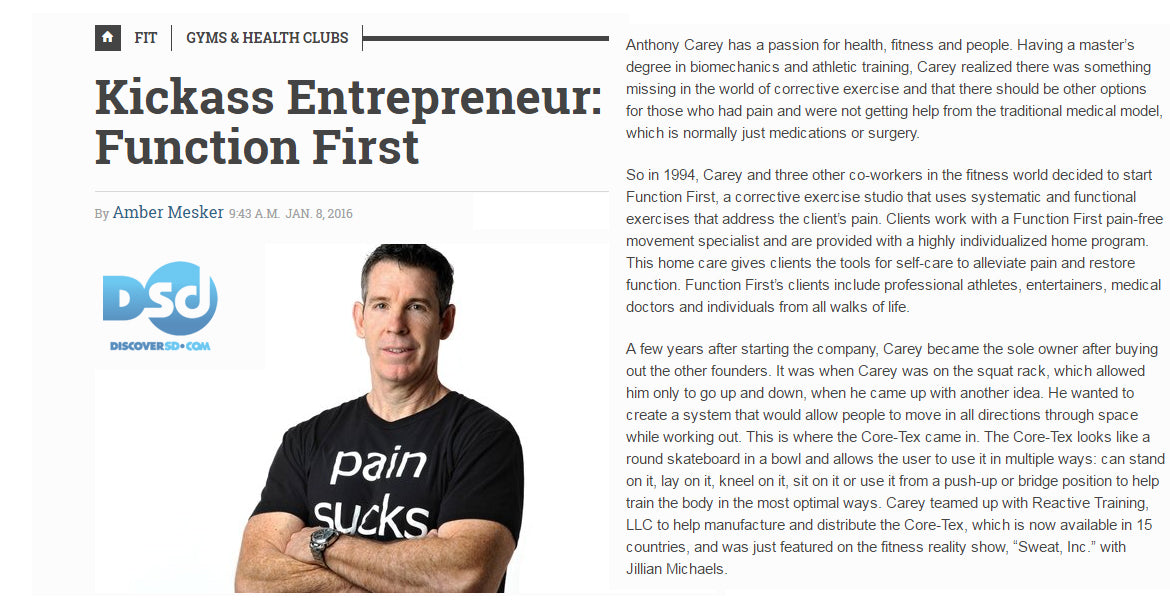 DISCOVERSD.COM, JANUARY 8, 2016: Kickass Entrepreneur: Function First