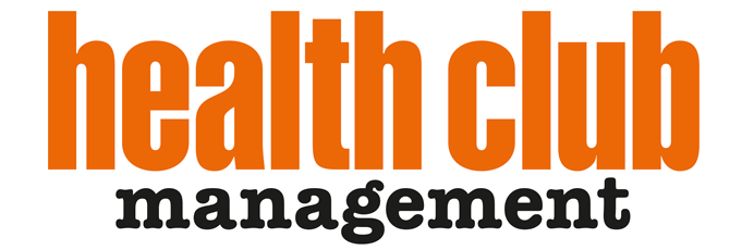 Orange and black Health Club Management logo
