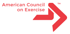 Red and white American Council on Exercise logo
