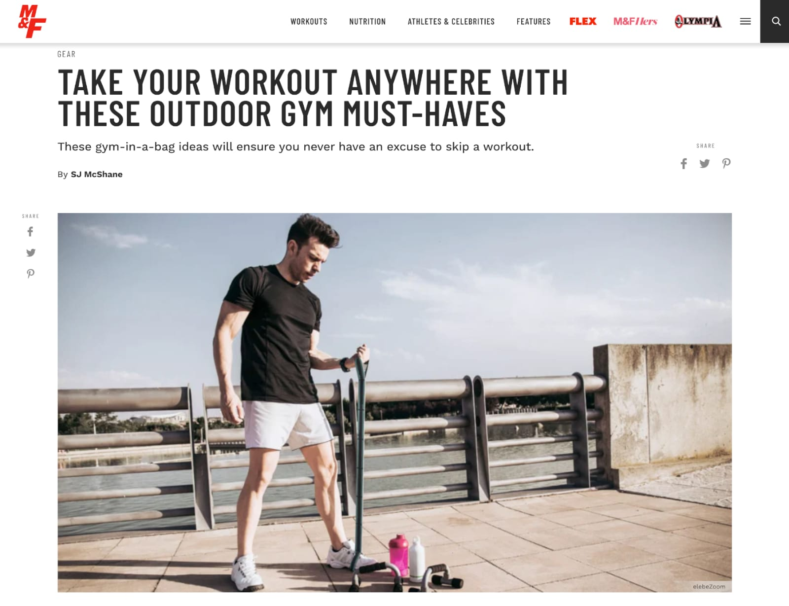 Muscle & Fitness Article: Take Your Workout Anywhere With These Outdoor Gym Must-Haves